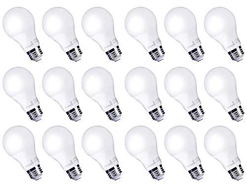 Hyperikon 9W LED Light Bulb A19 - E26 Non-Dimmable LED Bulb [60W Equivalent], 4000K (Daylight Glow), 840 Lumens, Medium Screw Base, Omnidirectional, UL-Listed - (Pack of 18) ()