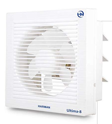 HARMAN INDUSTRIES Ultima-8 FLATRON Ventilation/Exhaust Fan HIGH Speed (8-inch/200 mm, White)