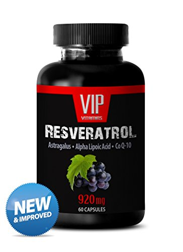 (Pure Resveratrol Proprietary Blend with Astragalus and Alfa Lipotic Acid - Natural Red Wine Extract and Antioxidant - To Promote Nerves System Support and Well-being (1 Bottle 60 Capsules))