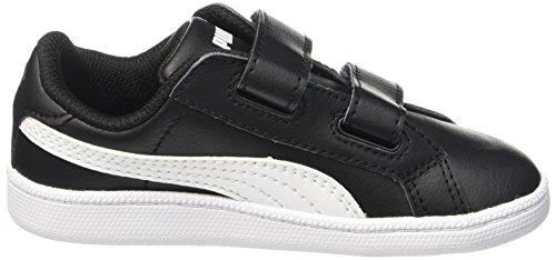 Puma Unisex-Kinder Smash Fun L V Inf Sneaker Schwarz (Black-White)