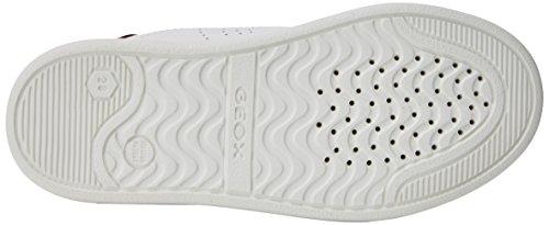 Geox Djrock C, Zapatillas Para Niños Blanco (White/dk Red)