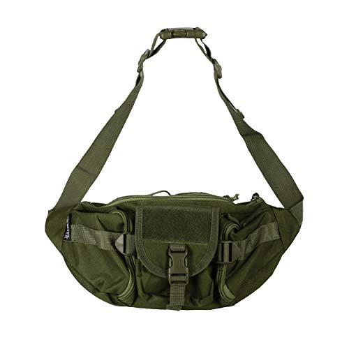 Osage River Fishing Tackle Bag, Waist Fanny Pack Portable Storage, Crossbody Sling Bag, Crocodile Green