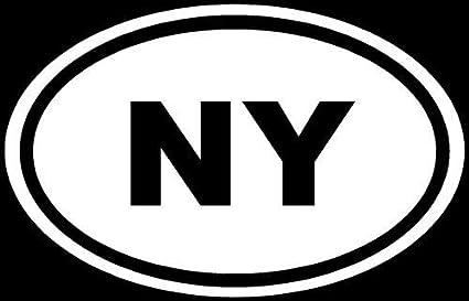 Amazoncom New York Sticker Ny Euro White Oval Window Vinyl