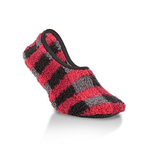 World's Softest Women's Cozy Slip-Resistant Bottom Slippers Size Large (Buffalo Plaid)