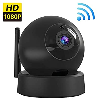 [Latest 2019] IP Home Camera, 1080P Wireless Indoor Security Surveillance System with Night Vision for Home/Office/Baby/Nanny/Pet Monitor with iOS, Android App Dome Camera from FHDCAM