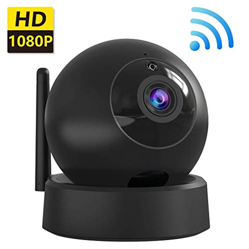 (Wireless IP Camera Indoor Home Security Camera, 1080P Dome Cam with Surveillance System Remote Monitoring for Baby/Elder/Pet/Nanny Monitor, Pan/Tilt, Two-Way Audio and Night Vision)