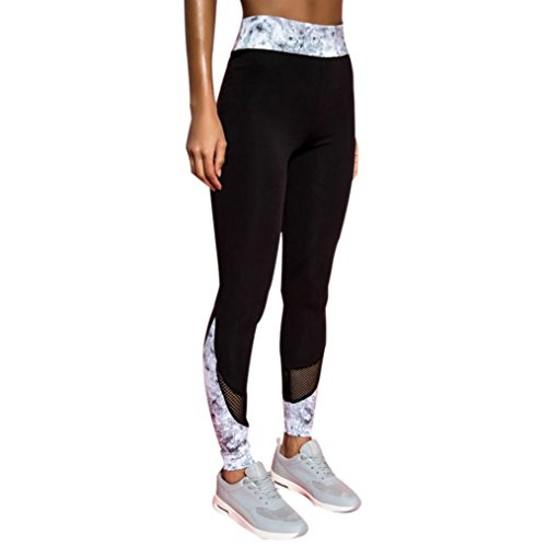 (Sports Pants, Neartime Women's Fashion Workout Leggings Fitness Casual Gym Running Yoga Athletic Pants (S, Black))