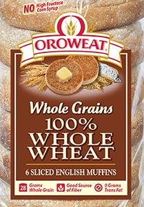 Oroweat 100% Whole Wheat English Muffins 6 per bag (Pack of 2) -