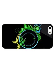 Free Shipping iPhone 5/5s Case Abstract Fabric Textured Swirly Circle with Full Wrap