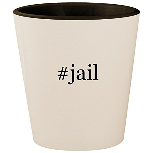 #jail - Hashtag White Outer & Black Inner Ceramic 1.5oz Shot Glass for $<!--$15.95-->