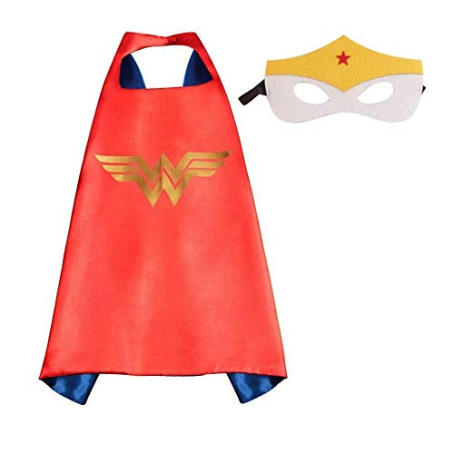 Kids Superhero Dress Up Costumes Capes and Masks (Wonder -