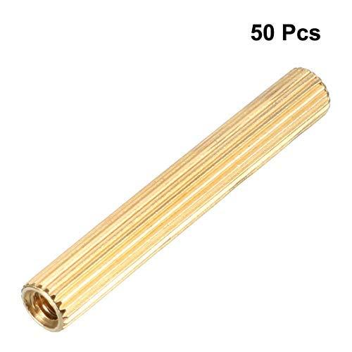 50 pcs Brass Straight Round PCB Pillar Female Thread Separator Separator M2x3x22mm