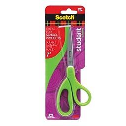 Scotch 1407SG 7-Inch Student Scissors, Green