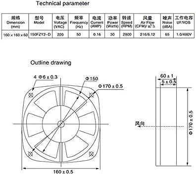 Shumo 150FZY2-D Flangia Singola AC220V 30W Ventilatore Assiale Ventilatore Ventola Scatola Elettrica Ventola Di Raffreddamento Direzione Del Vento Regolabile