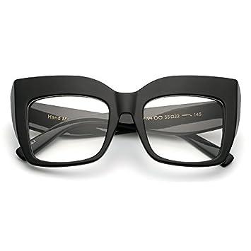 TIANLIANG04 Grand noir lunettes cadre de piazza fashion cat eye glasses frames pour les femmes femme UV,black