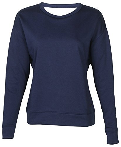 NIKE Womens Dry Open Back Training Pullover Top Navy XS (Terry Nike Pullover)