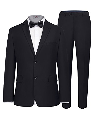 PAUL JONES Men's Classic 2 Button Suits for Groomsmen Suits Jacket (Jones Men Pants)