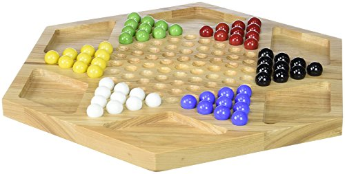 Chinese Checkers (Board Checkers Wood Chinese)
