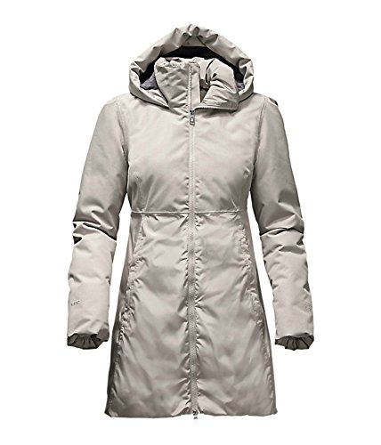 The North Face Women'S PAREIL Parka Down Long Jacket Dove Grey - Shaped Face Long