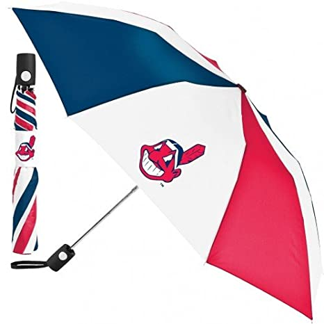 d6b250605767 Amazon.com : MLB McArthur Cleveland Indians 42'' Folding Umbrella ...