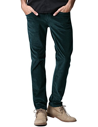 Match Men's Slim-Tapered Flat-Front Casual Pants (30W x 31L, 8052 Navy)