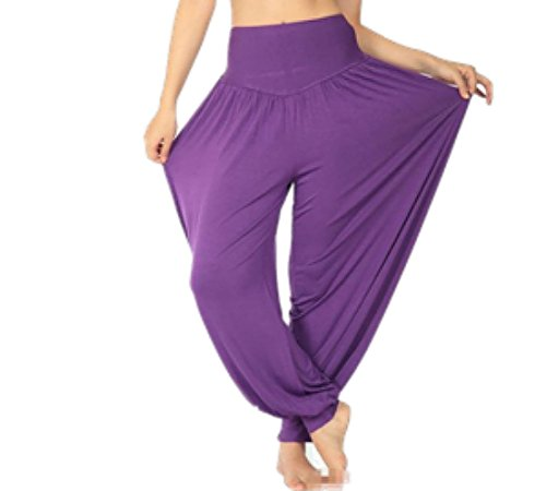 Abundant Life Harem Pants for Women Best For Dance, Yoga, Lounging - Super Soft (X-Small, Purple)