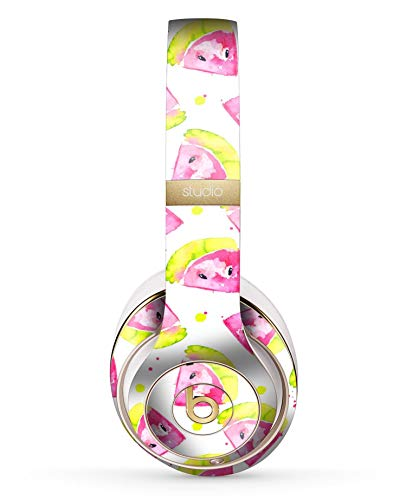 Highlighter Water - Bright Highlighter Watercolor-Melins Design Skinz Full-Body Premium Authentic Skin Kit for The Beats by Dre Studio 2 or 3 Remastered Wireless Headphones Ultra-Thin Protective Decal Wrap