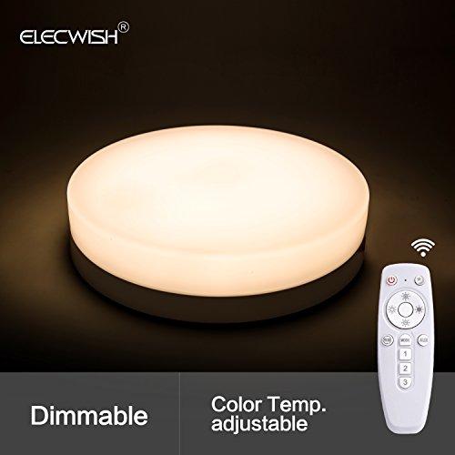24W Smart LED Lamp Ceiling Flush Mount Light Wireless Remote