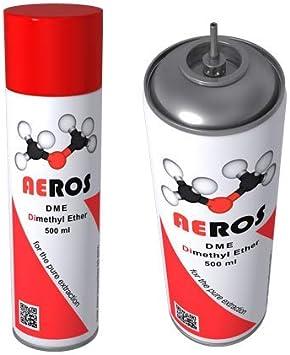 Aeros DME Dimethyl Ether Gas de extracción de disolvente orgánico de 500 ml para BHO Dimethyl Ether en el Mercado! con Mejores Resultados Entonces Gas butano. Distribuidor Principal del Reino Unido.