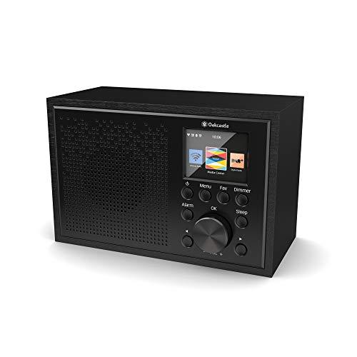 Oakcastle IR100 DAB Plus Radio/WLAN-radio met Bluetooth, Spotify Connect, dubbele wekker, line-in, app-besturing en…