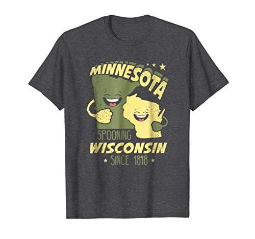 Mens Green Bay Shirt   Wisconsin Tshirt   Minnesota Tshirt Large Dark Heather