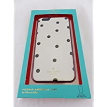 Kate Spade New York Flexible Hardhsell Cell Phone Case Scattered Pavillion for iPhone 6 plus / 6s Plus - White / Black Dots
