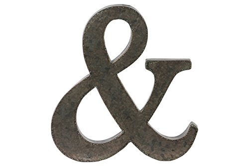 Urban Trends Metal Alphabet Wall Decor Symbol