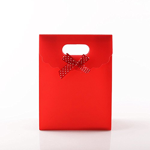 12pcs 6.5x5 inch (16.5x12.5x6cm) Red Gift Bags Wholesale Birthday Gifts Holiday Gifts Favor Bags Jewelry Gift Bag