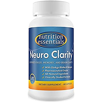 #1 Brain Function Booster Nootropic - Super Ginkgo Biloba complex with St John's Wort & Bacopin - Supports Mental clarity, Focus, Memory & more - 100% Moneyback Guarantee (1 Mo. Supply/1 Bottle)