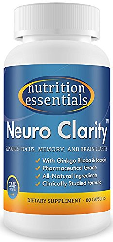 #1 Brain Function Booster Nootropic – Super Ginkgo Biloba complex with St John's Wort & Bacopin – Supports Mental clarity, Focus, Memory & more – 100% Moneyback Guarantee (1 Mo. Supply/1 Bottle) 41TUzwIKCML
