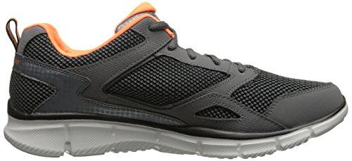 Skechers Sport Menns Equalizer Spillet Punkt Trening Sneaker Grå / Orange