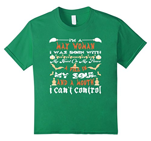 Kids Top Halloween Shirt For Women - May Birthday Gifts For Her 4 Kelly Green (Halloween Birthday Gifts For Her)