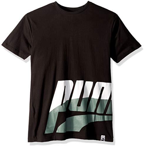 PUMA Big Boys' T-Shirt, Black, - T-shirt Graphic Puma