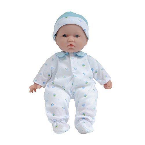 "Jc Toys La Baby Boy 11"" Washable Soft Body Play Doll, Blue, One Size"