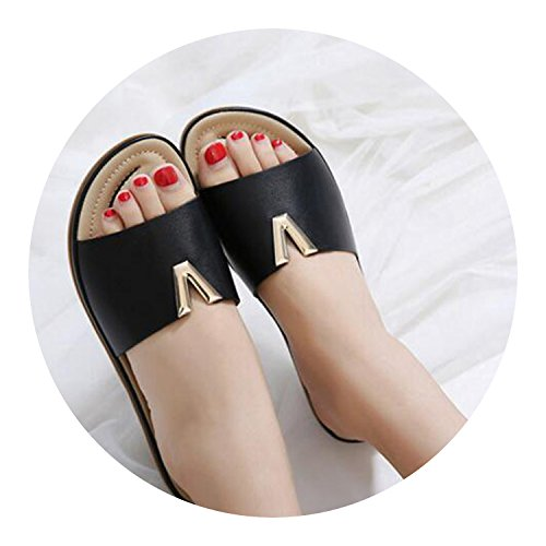 New Woman Sandalias Soft Words Sandals Flops Beach Shoes Loft Flip Decoration Beige Metal Slippers rrqz7