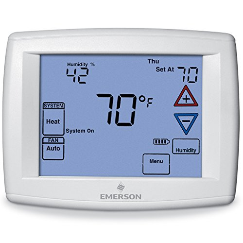 Emerson 1F95-1291 7-Day Touchscreen Thermostat with Humidity Control by White-Rodgers