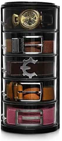 Elypro Belt Organizer - Acrylic Organizer & Display for Belts, Watch Case, Jewelry, Cosmetics, Make up Organizer, Bow Ties, Bracelets, Crafts, Toys etc. Perfect Closet Organizer and Gift item.
