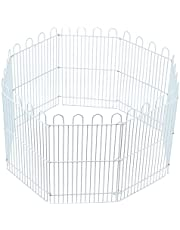 POPETPOP Hamster Playpen Iron Rabbit Fence Small Animal Cage Exercise Pen Playpen for Puppy Guinea Pigs Bunny Chinchilla Gerbils Hedgehogs Rats