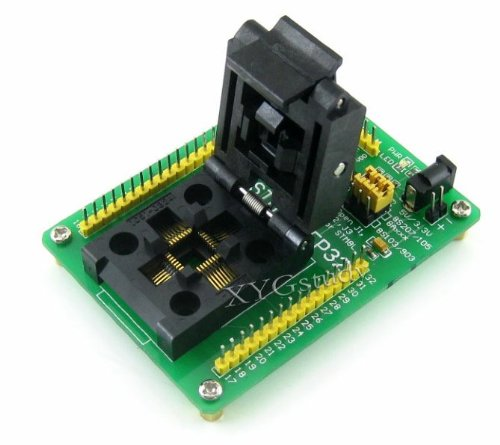 STM8-QFP32 STM8S STM8A STM8L STM8 LQFP32 QFP32 pitch 0.8mm MCU Program Programming Programmer SWIM Port Yamaichi IC Test & Burn-in IC51-0324-1498 Socket Board Adapter @XYG
