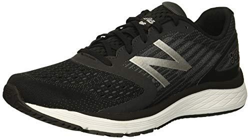 New Balance Boys' 860v9 Running Shoe, Black/Laser Blue, 5.5 W US Big Kid