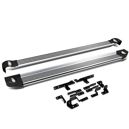 For 08-13 Highlander XU40 Pair of 5.25 inches Brushed Side Nerf Step Bar Lighted Running Boards ()