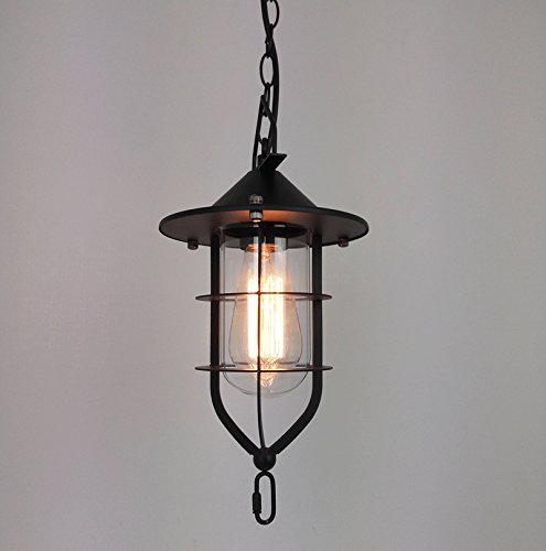 Injuicy Lighting Loft Tungsten Boat Glass Ceiling Light Vintage Pendant Edison Lamp Cafe Bar