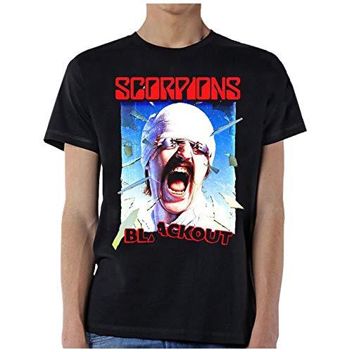 Global Scorpions Blackout Album Cover Graphic Short Sleeve T-Shirt-XL