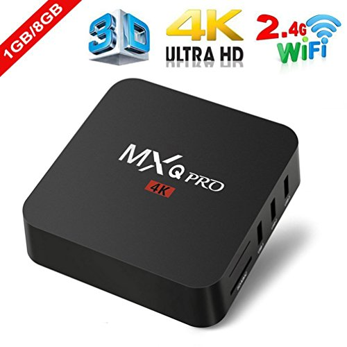 HappyCow MXQ Pro 4K Ultimate Android 6.0 Lollipop Amlogic S905X Quad Core 1GB/8GB 4K HD 3D Wifi Smart TV Box Android Mini PC